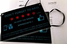 Lots 2 Uber Lyft Sidecar Rideshare 5 Stars Rating Decal Logo Sign Display Cards