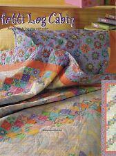 Confetti Log Cabin Quilt Pattern Pieced BG