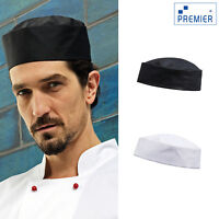 Premier Turn-Up Chef's Hat (PR648) - Kitchen Cook Restaurant Work Headwear Cap