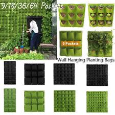 Wall Hanging Planting Bags Garden Vertical Planter  Pocket Flower Growing Pots#
