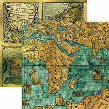 Reminisce PIRATE MAPS 12x12 Dbl-Sided (2pc) Scrapbooking Paper