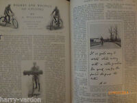 Road Bike Riding Bicycle Cycling Old Antique Edwardian Photo Article 1904 Diet