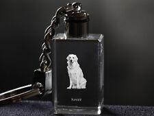 Kuvasz, Dog Crystal Keyring, Keychain, High Quality, Crystal Animals Ca