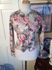 Banana Republic Women Safari & Travel Clothing Co. Floral Cotton Blazer Size10!