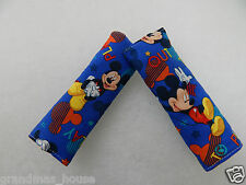 Baby Seat Belt Strap Covers Car Highchair Stroller- Mickey Mouse Out To Play