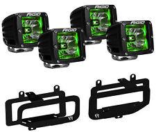 Rigid Radiance LED Fog Light w/ Green Backlight for 10-17 Dodge Ram 2500 3500
