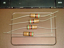 4 X MADE IN JAPAN RIKEN OHM RM2 51R 51 OHM +/-5% 2W AUDIO GRADE CARBON RESISTOR
