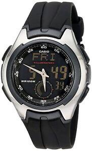 Casio Men's Quartz Multi-Function Digital Dial Black Resin 43mm Watch AQ160W-1BV