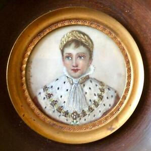 Authentic 18th c Young Napoleon Miniature Portrait by JEAN-BAPTISTE ISABEY.