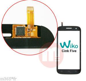 VITRE TACTILE WIKO cink five NEUF glass WIKO cink five (sans ecrans lcd !!!)