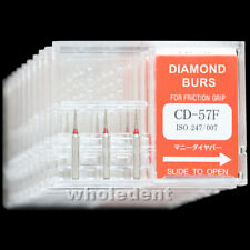 10 Boxes CD-57F MANI DIA-BURS CE For Dental High Speed Handpiece Diamond Burs