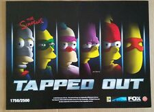 SDCC Comic Con 2016 EXCLUSIVE FOX The Simpsons TAPPED OUT poster