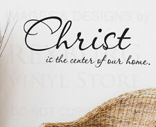 Wall Sticker Decal Quote Vinyl Christ is the Center of Our Home Religious R20