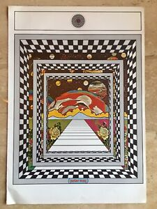 "Vtg Peter Max Poster 1970 MCM Mod 11x16"" Cosmic Window"