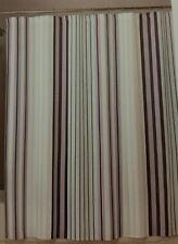 NEW FREESPIRIT SIENNA STRIPE FABRIC Shower Curtain 100% COTTON 72x72 Blue Gray