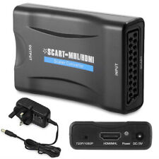 1080P Scart Zu Hdmi Adapter Upscaler Video Audio Konverter Adapter Für HDTV DVD