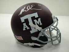 MIKE EVANS #13 JSA CERTIFIED SIGNED TEXAS A&M AGGIES MINI HELMET AUTOGRAPHED