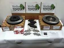 Toyota Sienna 2004-2010 Genuine OEM Front Brake Rotors & OEM Pads and Shim Kit