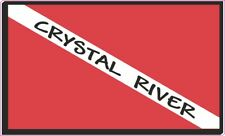 (Pack of 3) Crystal River Flag Decal for scuba divers 200-20