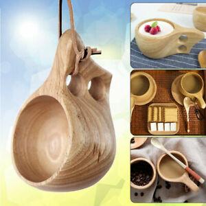 Hölzerne Tasse Lappland Kuksa Finnland Holz Obst Kaffee Tee Milchbecher Freien
