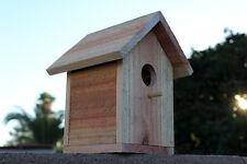 Handmade Cedar Bird House Wooden Bird Nest