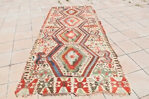 Stunning! Antique Primitive Collector's Piece Anatolian Distressed Aydin Kilim