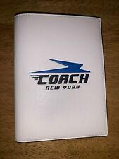 NWT COACH 73082 Men's Vintage White Leather Passport holder Wallet Case