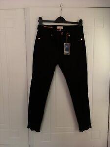 "Ted Baker Black Capri Cut Out Jeans Size 28"""