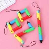 5x Fun Creative Kawaii Foldable Pen Plastic Ballpoint Stationary Kid School S4E0