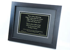 FRAMED BRASS MEMORIAL PLAQUE GOLD AND BLACK TRADITIONAL DEEP METAL ENGRAVING