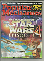 Popular Mechanics June 1999 - Machines of Star Wars Phantom Menance, w/ POSTER