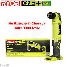 Ryobi P241 18V ONE+ 18-Volt 3/8 in LED Right Angle Drill Tool Only Use P102 P107