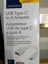 Insignia USB Type C to A Adapter - White