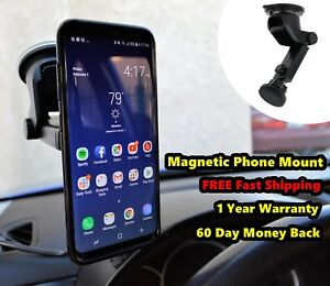 Magnetic Car Dash Windshield Suction Mount Holder For iPhone 7 8 Cell-Phone GPS