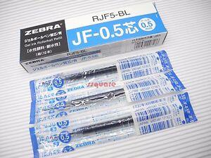 30 Zebra Sarasa JF-0.5 RJF5-R 0.5mm Extra Fine Gel Ink Rollerball Refill, Blue