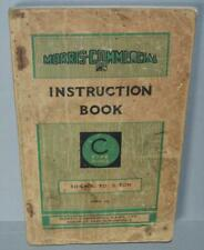 Old Morris InstructionBook .Type C Range .30cwt to 3 ton .1933.