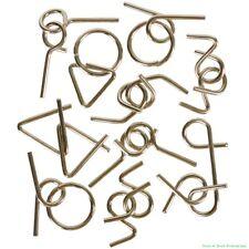 (432) Magic Metal Wire Puzzle Games ~ Children Brain Teaser Iq Learning (36 dz)