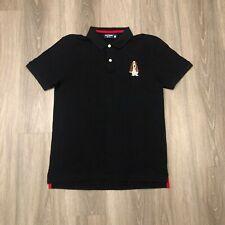 Hush Puppies Mens Large Slim Fit Black Cotton Polo Shirt