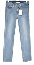 Levis 314 SHAPING STRAIGHT Leg Mid Rise Blue Stretch Jeans Size 8 W26 L32