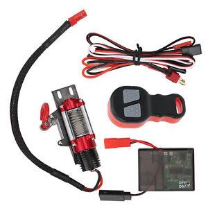 Seilwinde Winch Seilzugwinde Controller Receiver für 1:10 RC Auto Crawler Metall