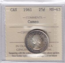 1961 Canada 25-cent Silver Coin ICCS MS-63 Nice Toning