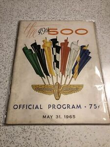 49th Indy 500 Official Program, May 31, 1965
