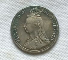 1887 VICTORIA GOTHIC CROWN SOUVENIR COIN  collectors item :) George and dragon