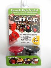 AS SEEN ON TV CAFE CUP REUSABLE SINGLE CUP POD ( 2 PACK )