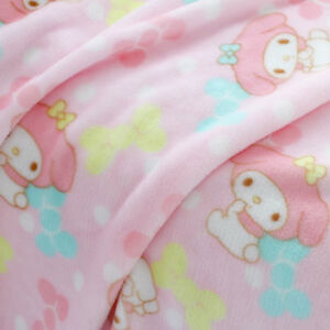 Cute My Melody Pink Warm Flannel Blanket Soft Throw Plush Rug Girl Bedding Gift
