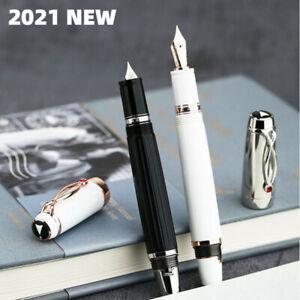 New Majohn X1 Retractable Resin Fountain Pen EF Nib Writing Gift Office Ink Pen