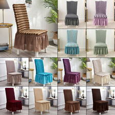 Bubble plaid Stretch Dining Chair Covers Slipcovers Thick With Chair Cover skirt