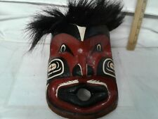 Vintage handcrafted Tribal facemask Roy Peters Scowlitz 87 mache  folk art deco