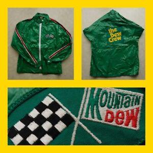 "Vintage 70s/80s MOUNTAIN DEW RACING JACKET ""DEW CREW"" Swingster/Official/Team"