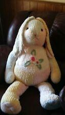 Chenille Rabbit Pastel Patchwork Giant Large PLUSH Stuffed Bedspread Bunny